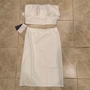 Gorgeous Sexy White Two-Piece Set Size Medium
